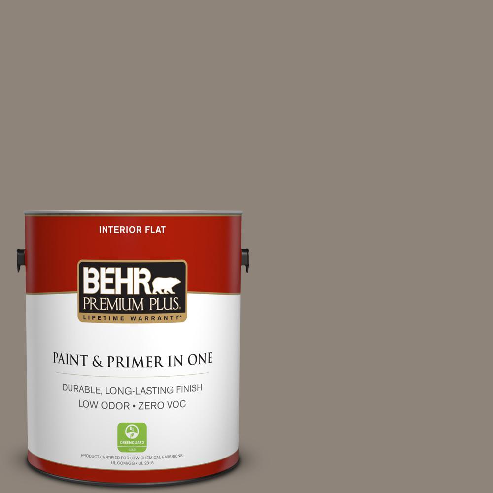 BEHR Premium Plus 1-gal. #N200-5 Woodcraft Flat Interior Paint