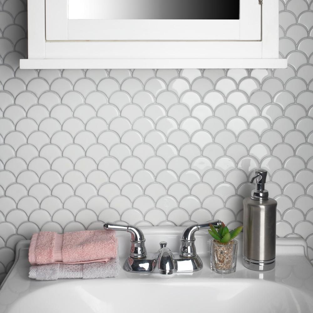 Merola Tile Expressions Scallop White