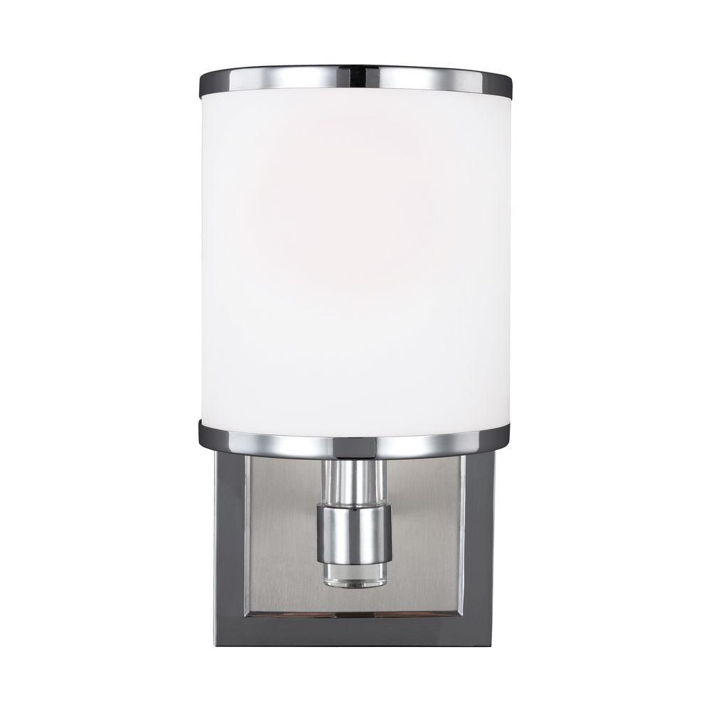 Prospect Park 1-Light Satin Nickel/Chrome Wall Bath Light