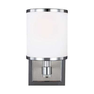 Prospect Park 1-Light Satin Nickel/Chrome Wall Bath Light