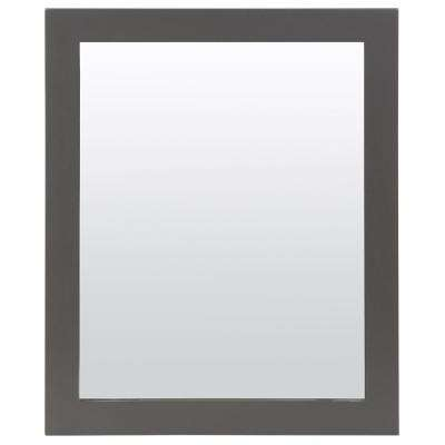 25.67 in. W x 31.38 in. H Wood Framed Wall Mirror in Shale Gray
