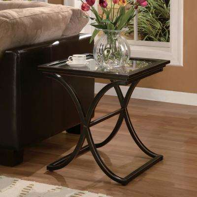 Vogue Black Contoured End Table
