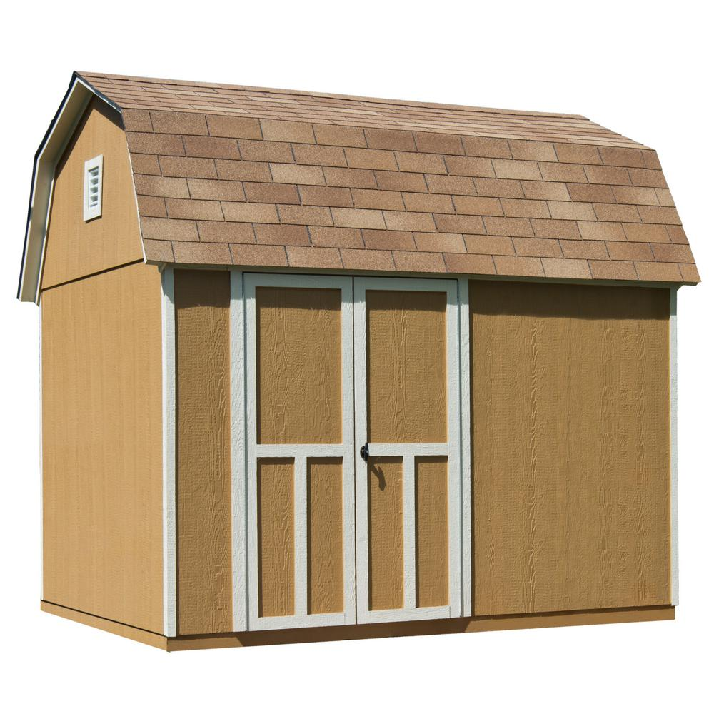 Handy Home Products Briarwood 10 ft. x 8 ft. Wood Storage Shed with Floor