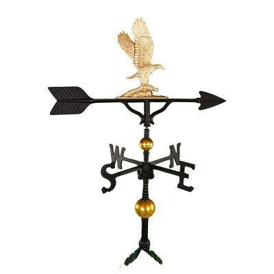 32 in. Deluxe Gold Eagle Weathervane