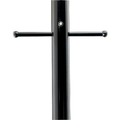 Black 7 ft. Exterior Lamp Post with Photocell and Ladder Rest
