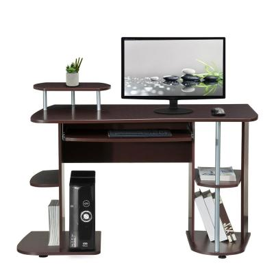 48 in. Rectangular Chocolate Computer Desk with Keyboard Tray