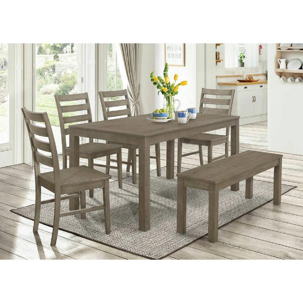 Walker Edison Furniture Company Homestead 6-Piece Aged Grey Wood ...
