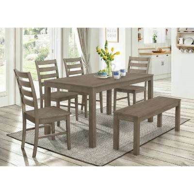 Homestead 6-Piece Aged Grey Wood Dining Set