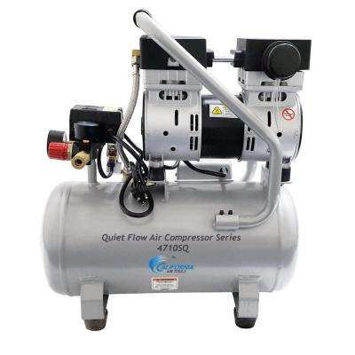 Quiet Flow 4.7 Gal. 1.0 HP Portable Electric Oil-Free Air Compressor