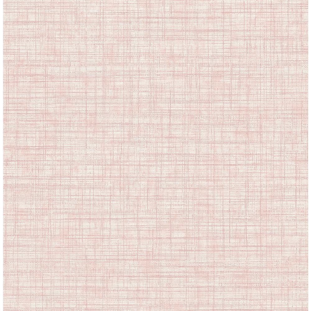 Tuckernuck Rose Linen Pink Wallpaper Sample