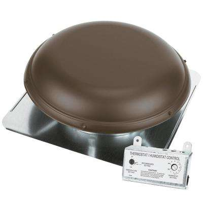 1500 CFM Brown Power Roof Mount Attic Ventilator