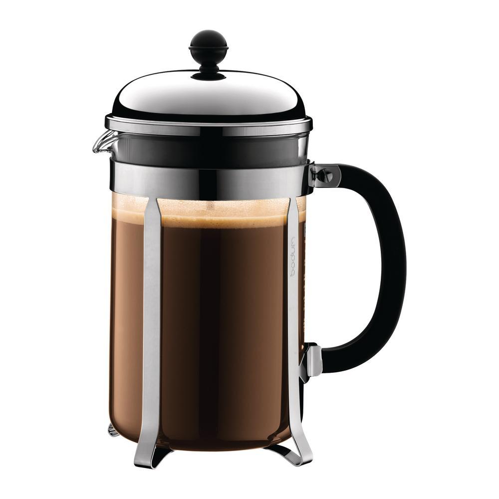Bodum Chambord 12-Cup Chrome French Press Coffee Maker 1932-16US4