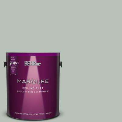 1 gal. #MQ6-18 Tinted to Recycled Glass One-Coat Hide Flat Interior Ceiling Paint and Primer in One