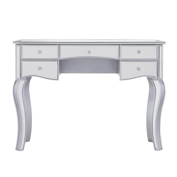Southern Enterprises Jeanne Silver Mirrored Writing Desk