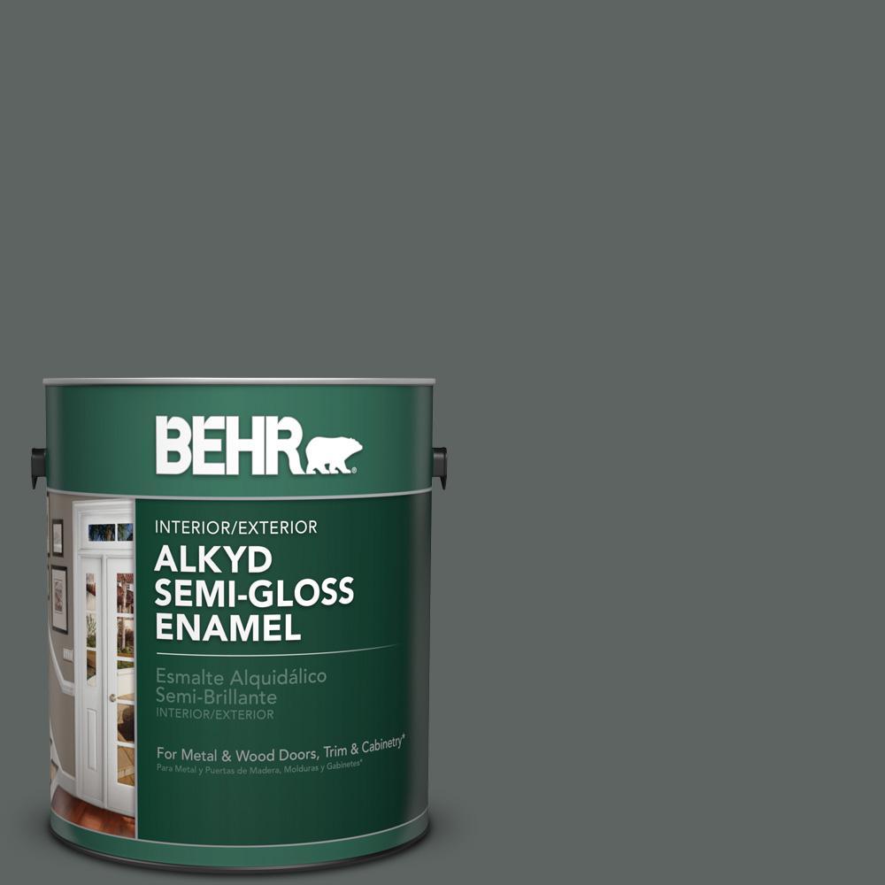 Bxc 41 Charcoal Semi Gloss Enamel Alkyd Interior Exterior Paint