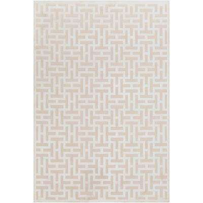 Ursa Ivory 6 ft. 7 in. x 9 ft. 6 in. Geometric Area Rug