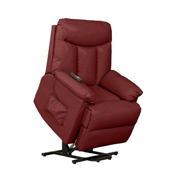 Burgundy Red Power Lift Reclining Chair