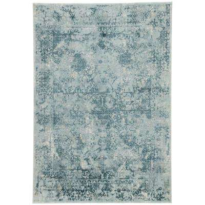 Machine Made Pearl Blue 8 ft. x 10 ft. Abstract Area Rug