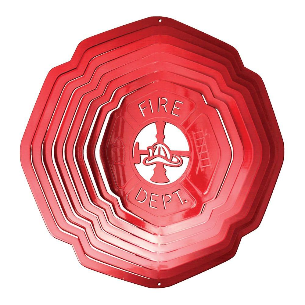 Iron Stop Large Red Fireman Wind Spinner-DISCONTINUED
