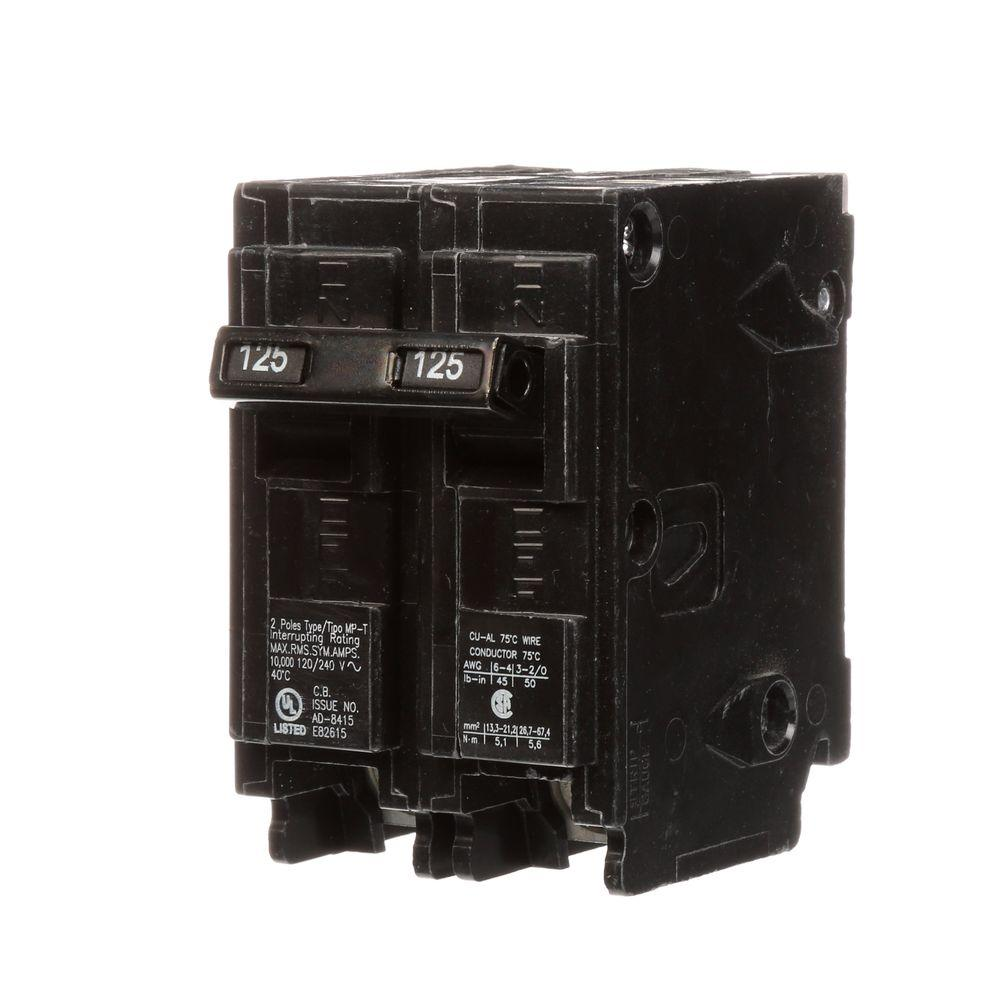 125 Amp Double-Pole Type MP-T Circuit Breaker