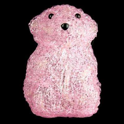 6 in. Decorative Pink Baby Bear Standing LED Light