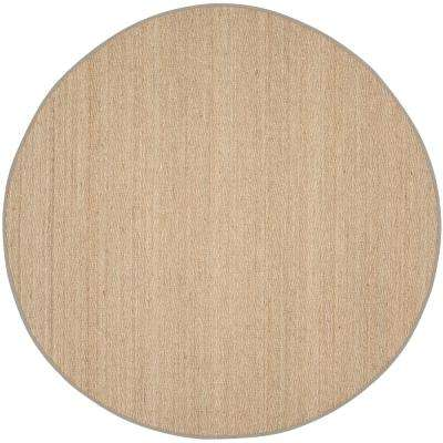 Natural Fiber Natural/Gray 8 ft. x 8 ft. Round Area Rug