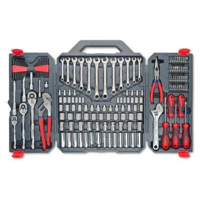 1/4 in., 3/8 in. and 1/2 in. Drive 6 and 12-Point SAE/Metric Mechanics Tool Set (170-Piece)