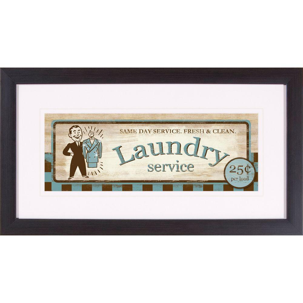 "null 22 in. x 12 in. ""Laundry Service B"" Framed Wall Art"