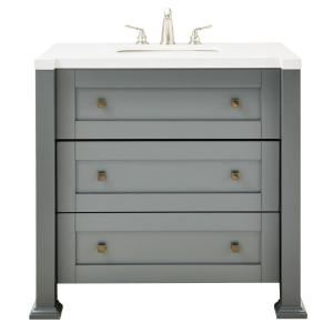 Home Decorators Collection Greenwich 36 inch W Single Vanity in Dark Charcoal with Faux... by Home Decorators Collection