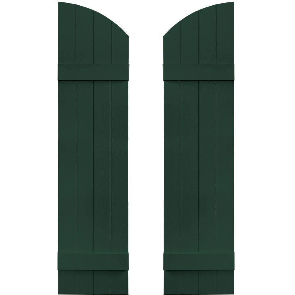 14 in. x 53 in. Board-N-Batten Shutters Pair, 4 Boards Joined