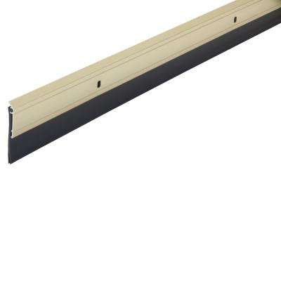 1/4 in. x 36 in. Premium Aluminum and Vinyl Door Sweep in Bright Gold