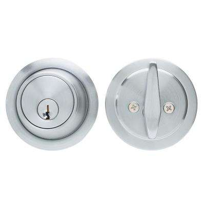 Brushed Chrome Residential Deadbolt