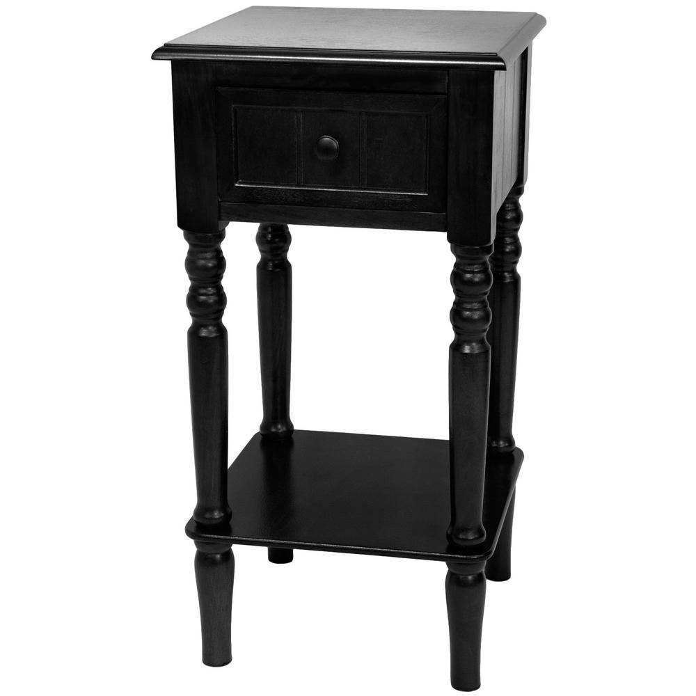 Classic Design Square Accent Table In Black
