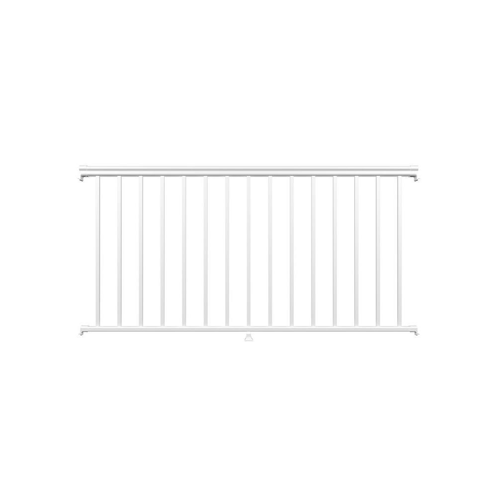 8 ft. White Fine Textured Aluminum Level Rail Kit (1-Qty)