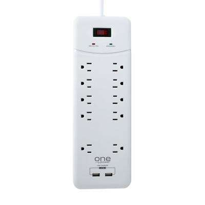 10-Outlet Dual USB Power Block Surge Protector