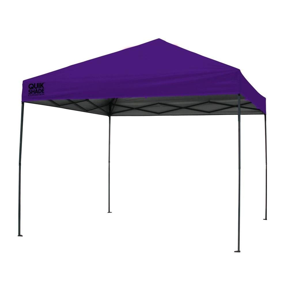 Expedition 100 Team Colors 10 ft. x 10 ft. Purple Instant