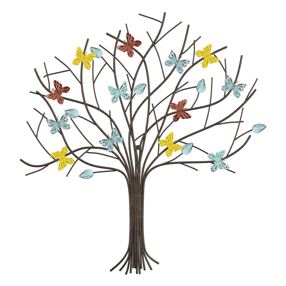 Metal Butterfly Tree of Life Wall Art