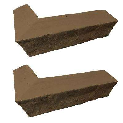 Stacked Stone 3-1/4 in. x 3-1/2 in. x 11-3/4 in. Desert Sunrise Faux Corner Ledger (2-Pack)