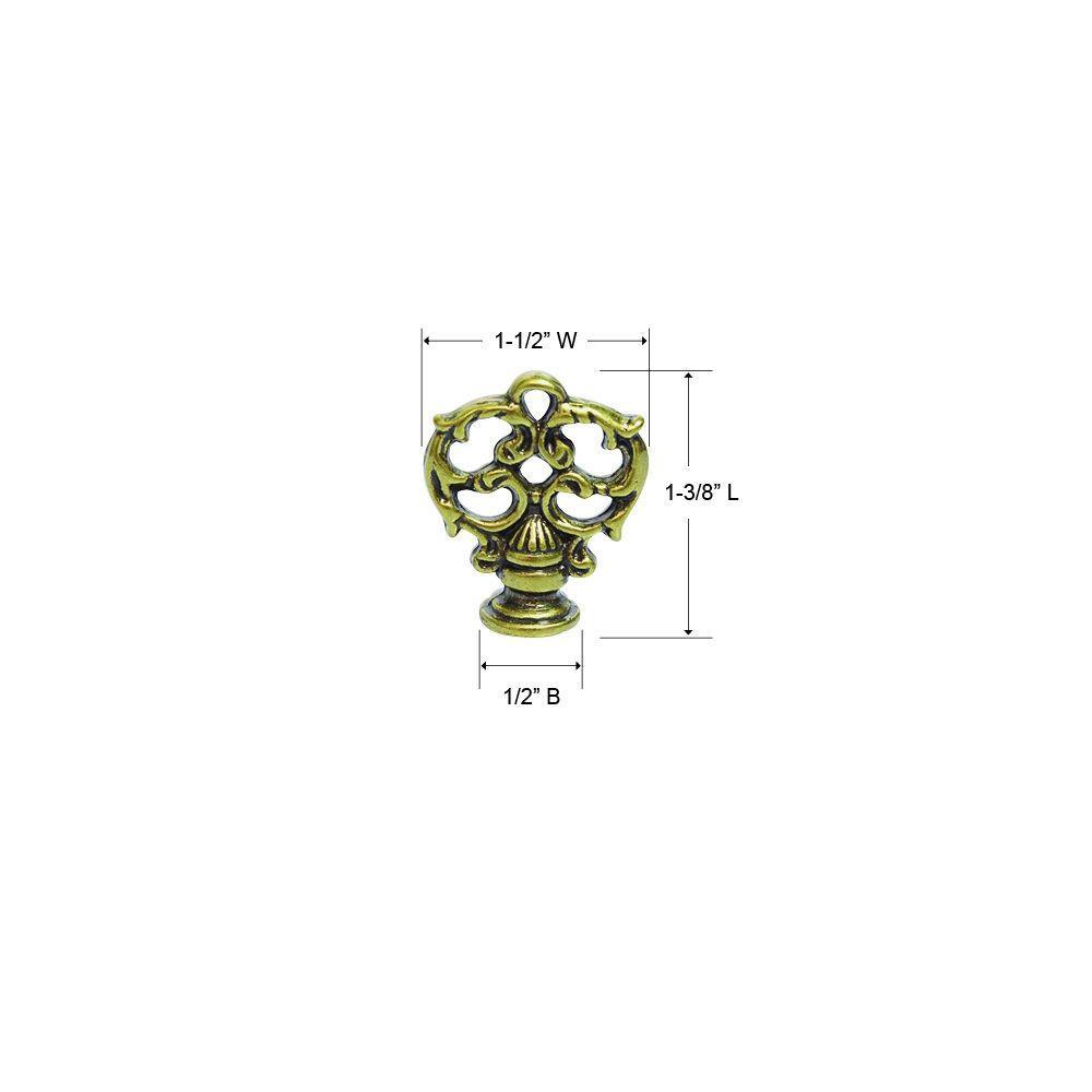 Lancaster 1-1/8 in. Brass Cabinet Knob