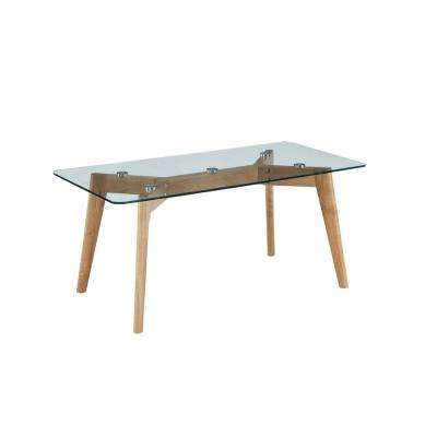 Clearview Natural with Glass Coffee Table