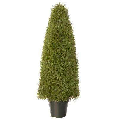 48 in. Upright Artificial Juniper Tree with Green Round Growers Pot
