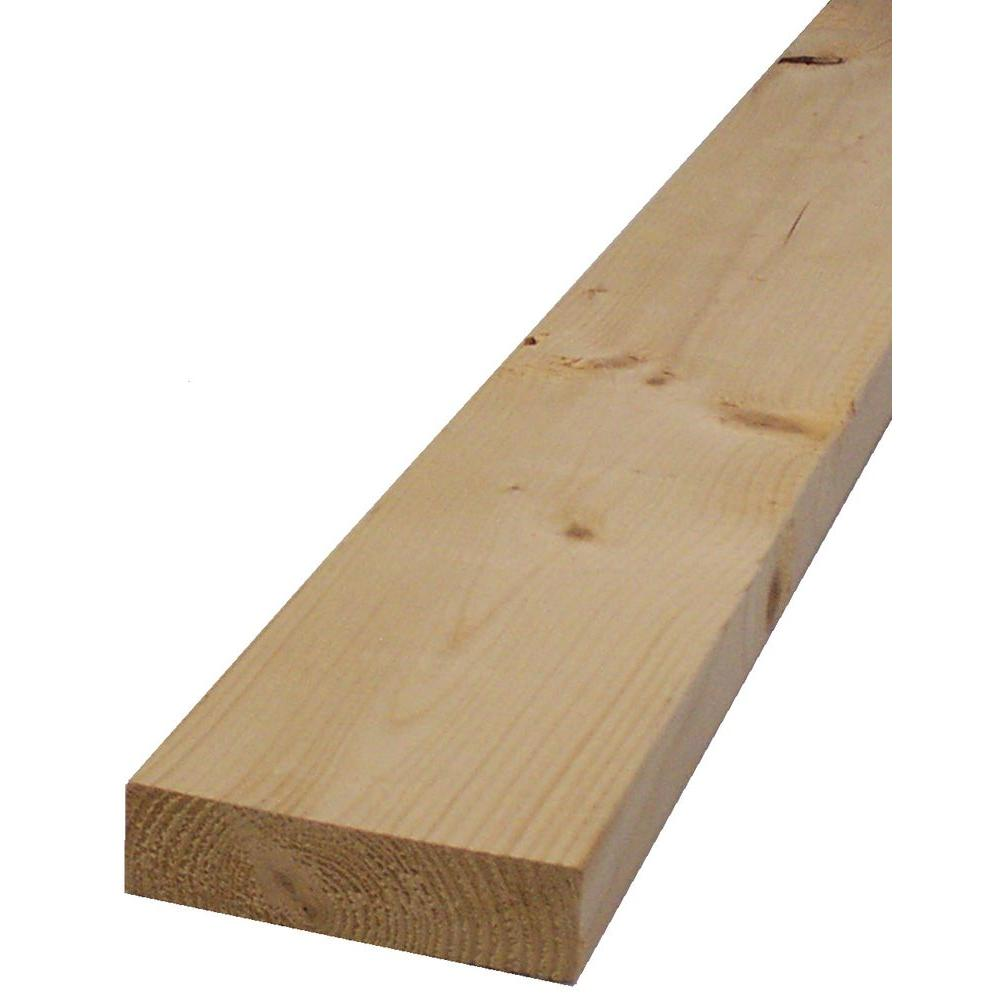 2 in. x 4 in. x 116-5/8 in. Kiln-Dried Whitewood Stud