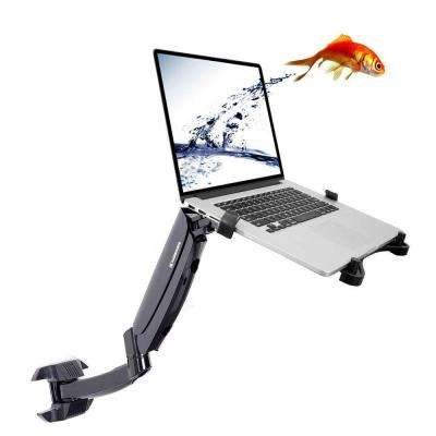 2-in-1 Full Motion Gas Spring Monitor Laptop Wall Mount Fits 11 in. - 15.6 in. Notebook for Dental Clinic