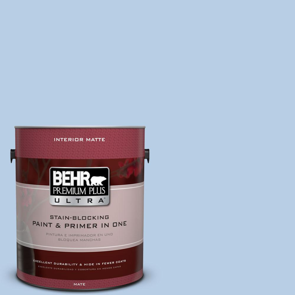 1 gal. #570C-3 Tender Twilight Matte Interior Paint and Primer in