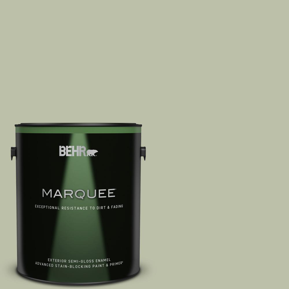 Behr Marquee 1 Gal S380 3 Urban Nature Semi Gloss Enamel Exterior Paint And Primer In One 545401 The Home Depot