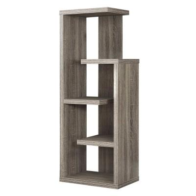 47.25 in. Jasmine  MDF Dark Taupe 5-Shelf Bookcase
