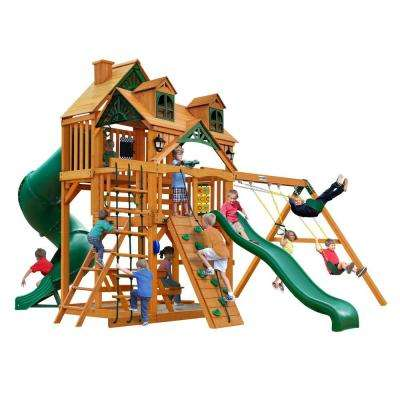 Malibu Deluxe I with Amber Posts Cedar Playset