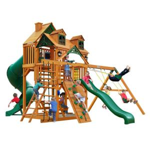 Gorilla Playsets Malibu Deluxe I Cedar Swing Set with Natural Cedar Posts by Gorilla Playsets