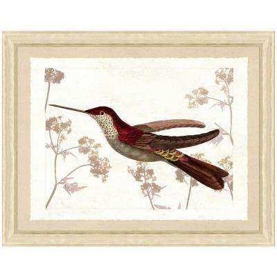 20 in. x 24 in. Hummingbird Scene III Framed Archival Paper Wall Art