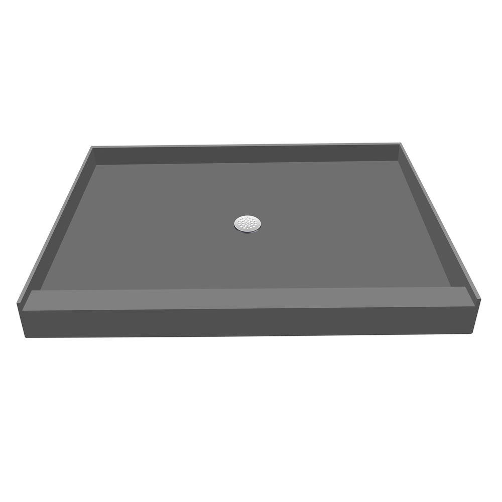 48 in. x 60 in. Single Threshold Shower Base with Center